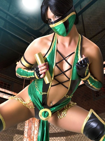 ginger_in_her_mortal_kombat_outfit